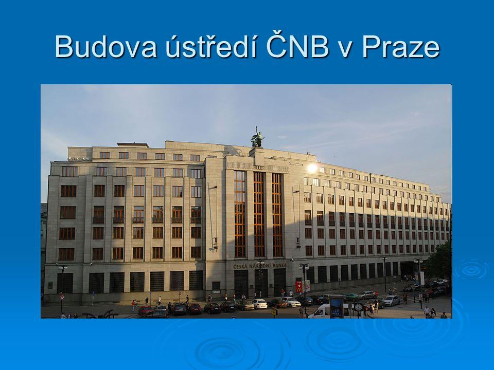 Budova ústředí ČNB v Praze