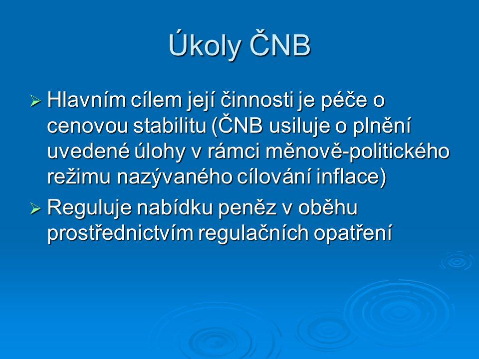 Úkoly ČNB