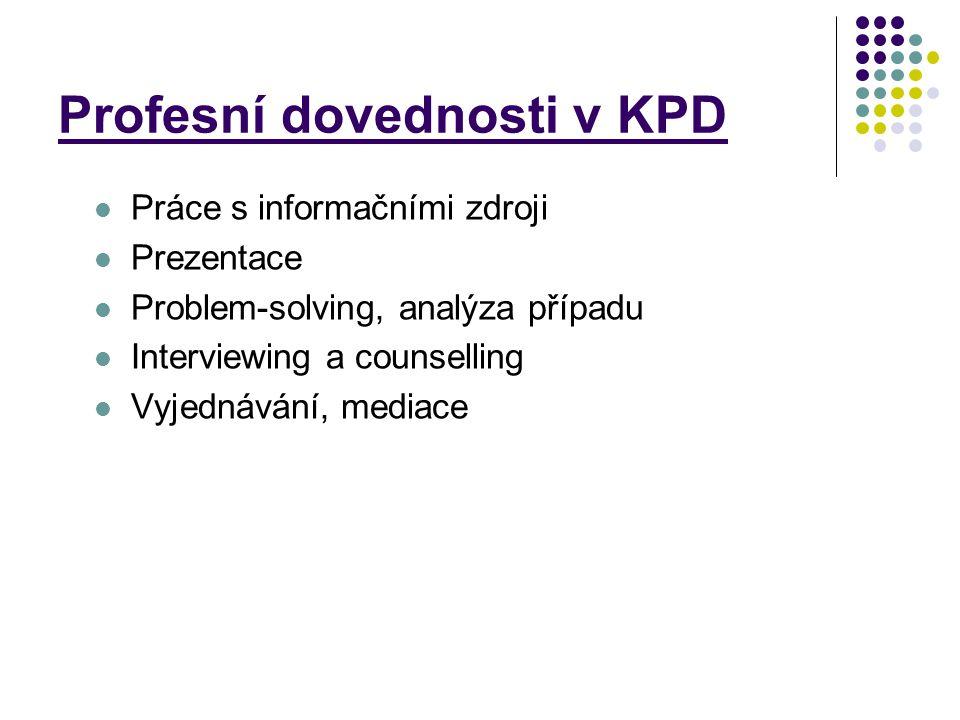 Profesní dovednosti v KPD