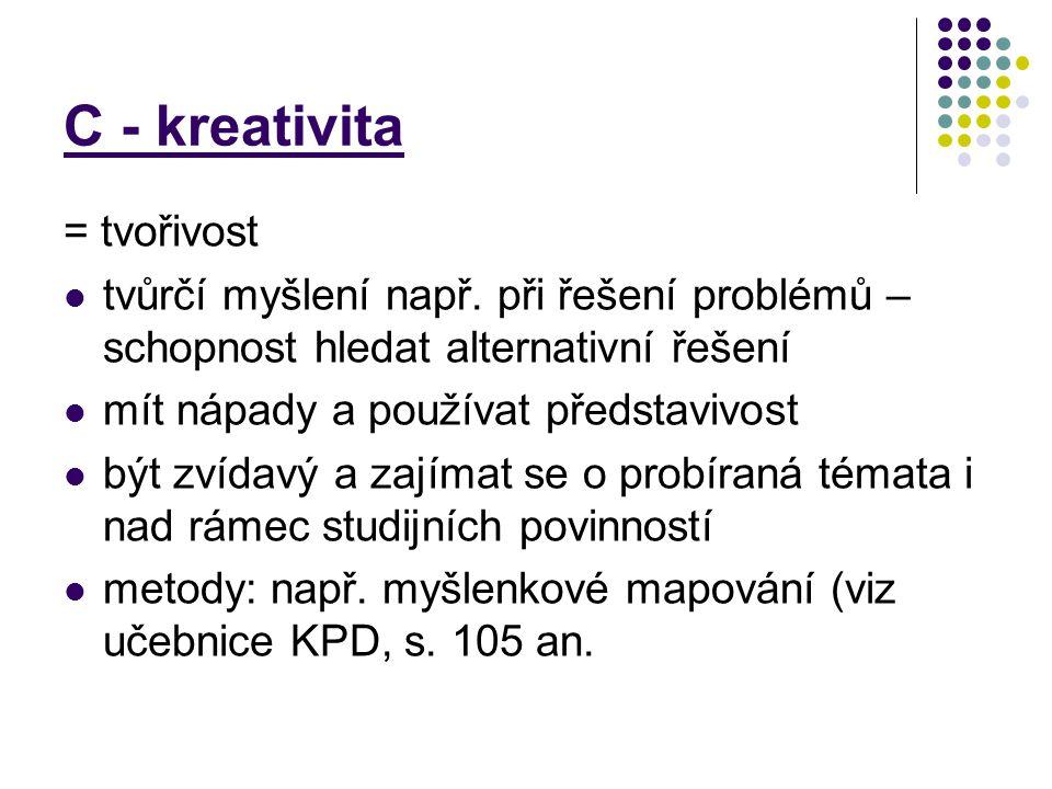 C - kreativita = tvořivost