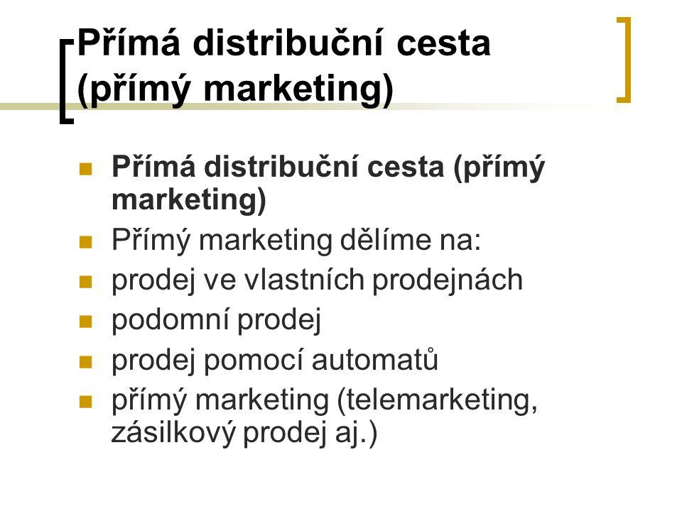 Přímá distribuční cesta (přímý marketing)