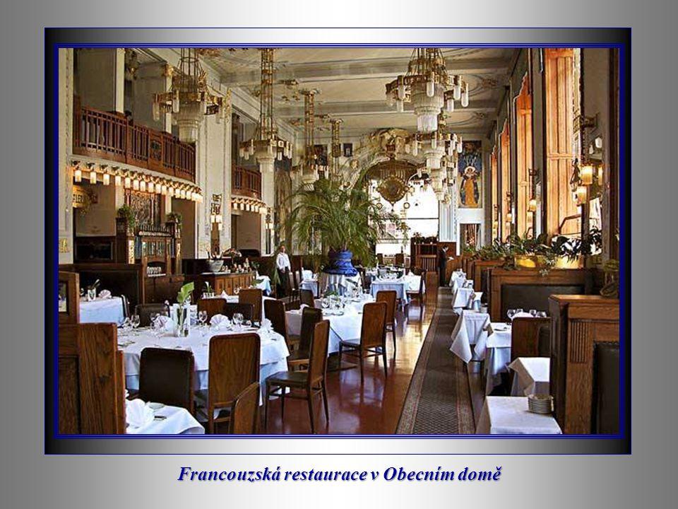 Francouzská restaurace v Obecním domě