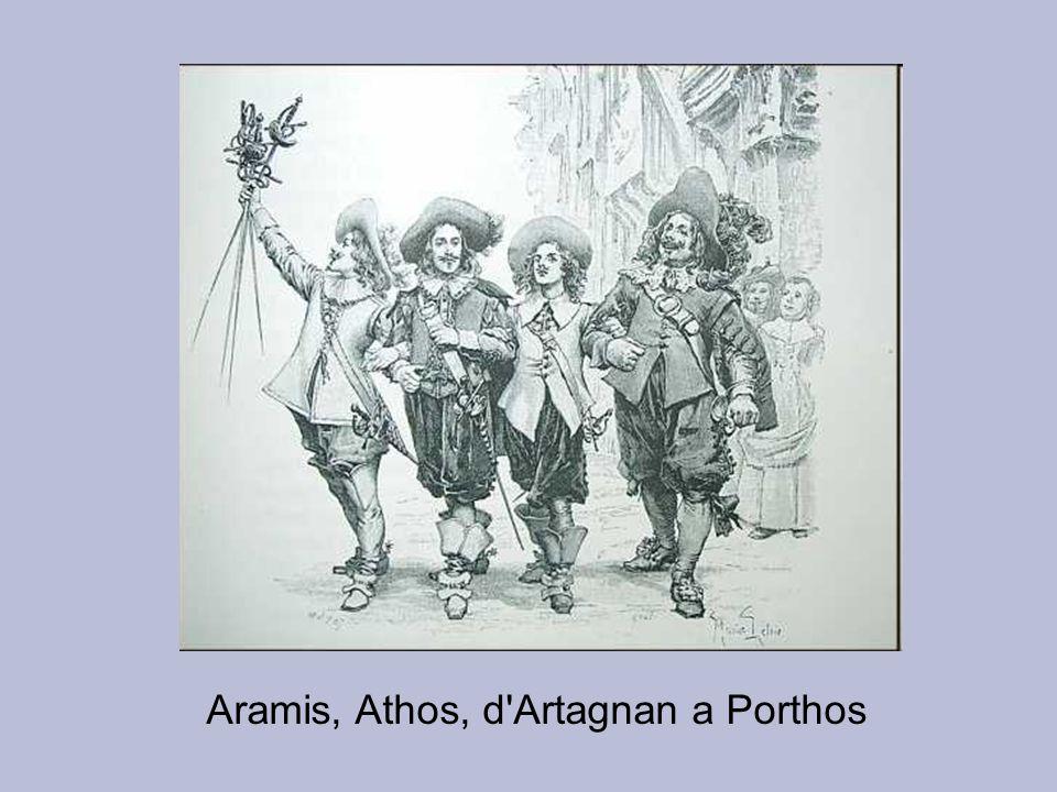 Aramis, Athos, d Artagnan a Porthos