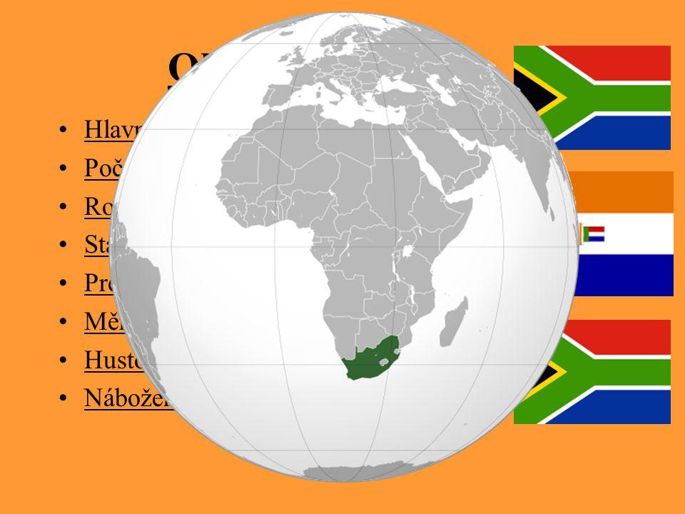 Obecné informace Hlavní město: Pretoria Počet obyvatel: 43 997 828