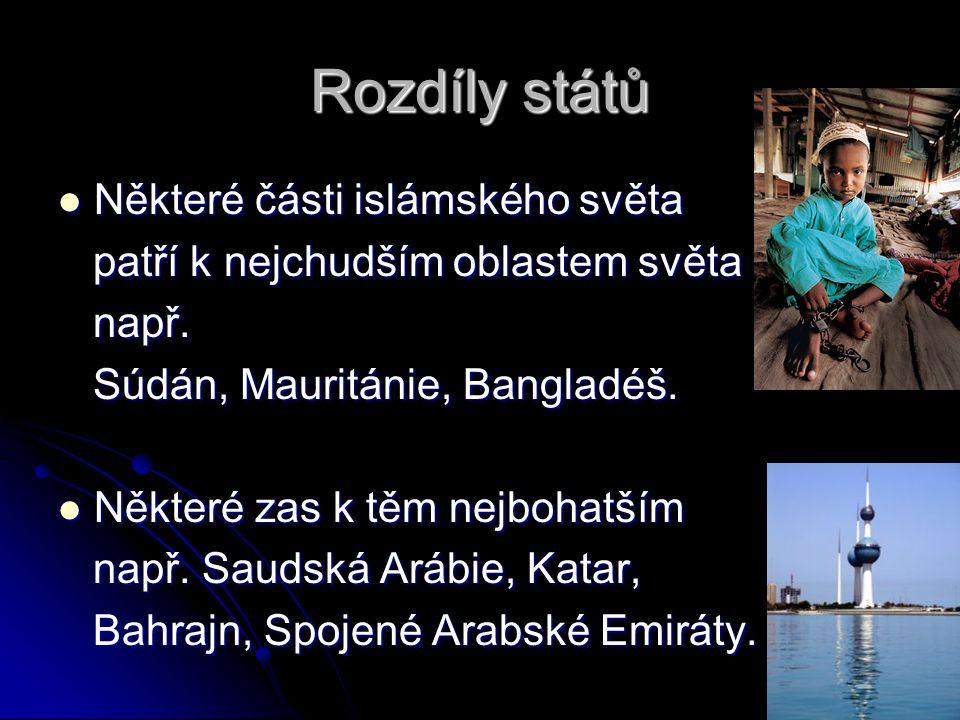 Rozdíly států Některé části islámského světa
