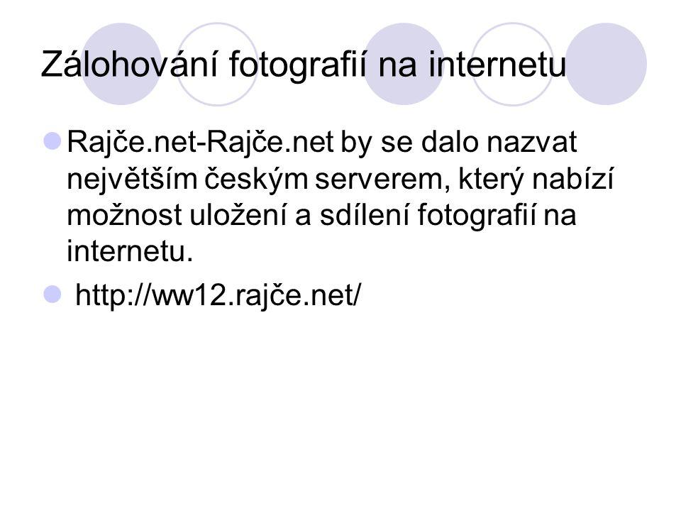 Zálohování fotografií na internetu