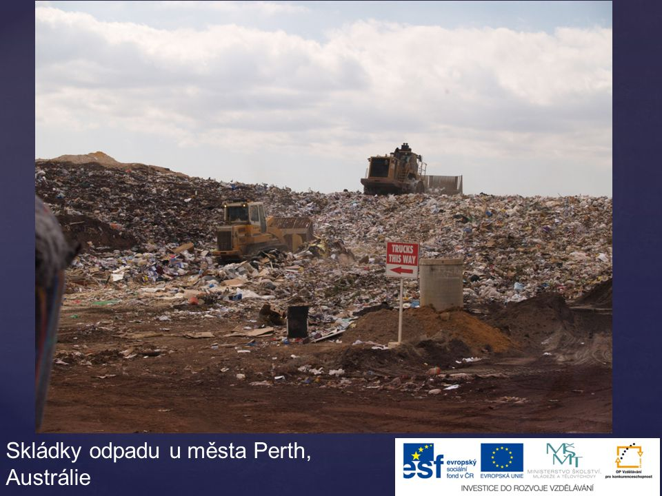 Skládky odpadu u města Perth, Austrálie