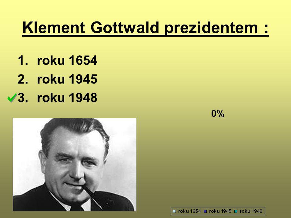 Klement Gottwald prezidentem :