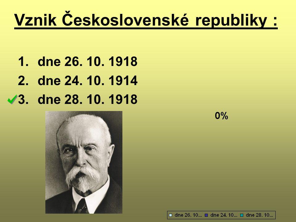 Vznik Československé republiky :