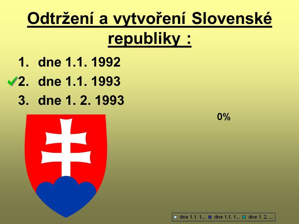 Odtržení a vytvoření Slovenské republiky :