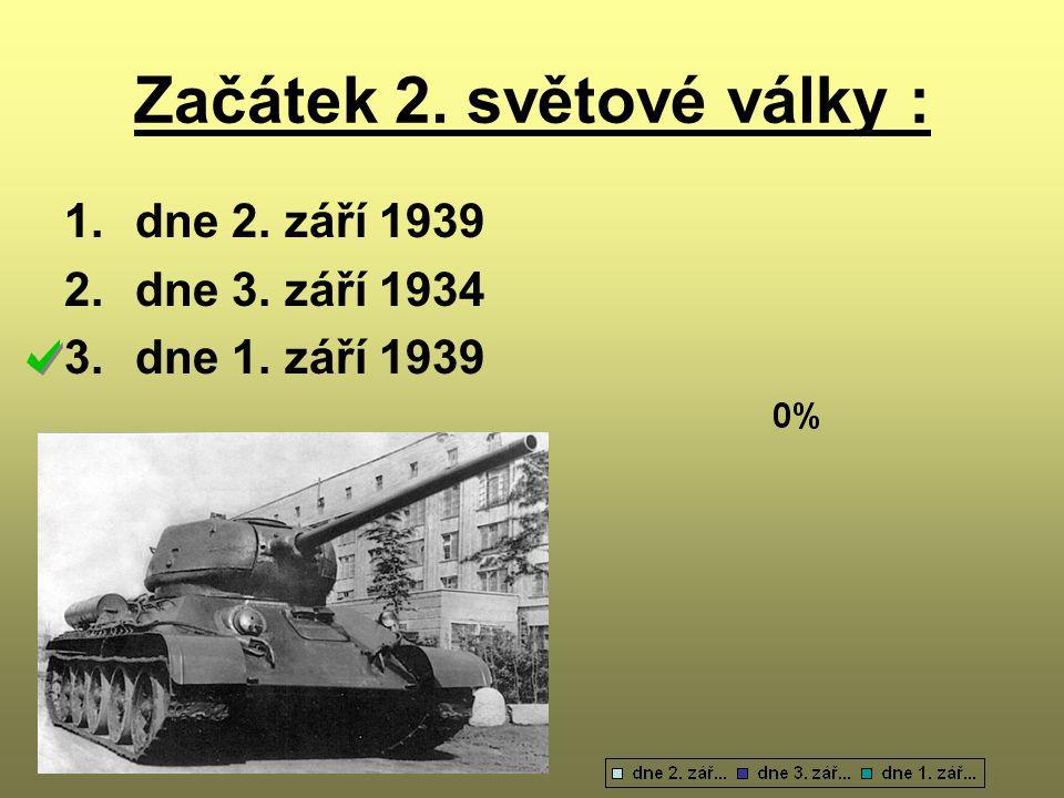 Začátek 2. světové války :