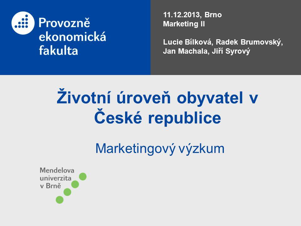 Životní úroveň obyvatel v České republice