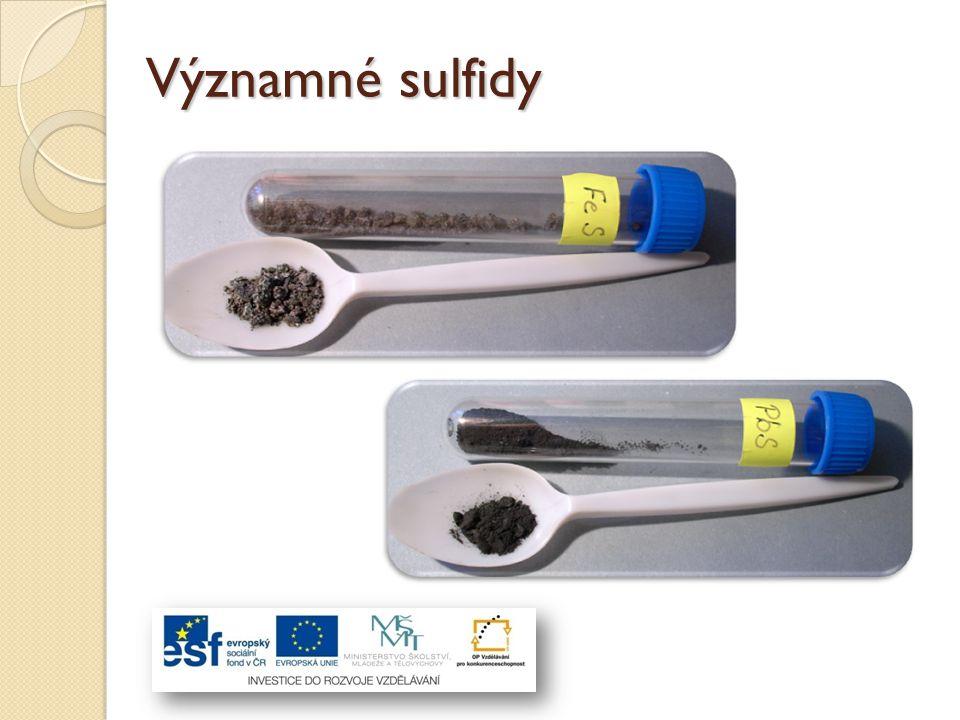 Významné sulfidy