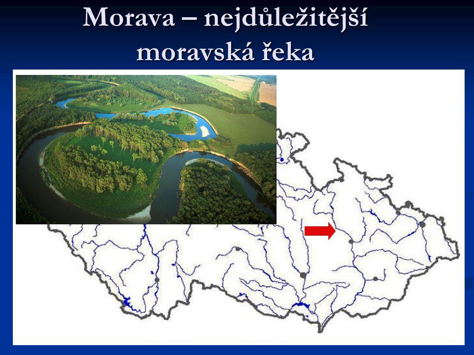 Morava – nejdůležitější moravská řeka