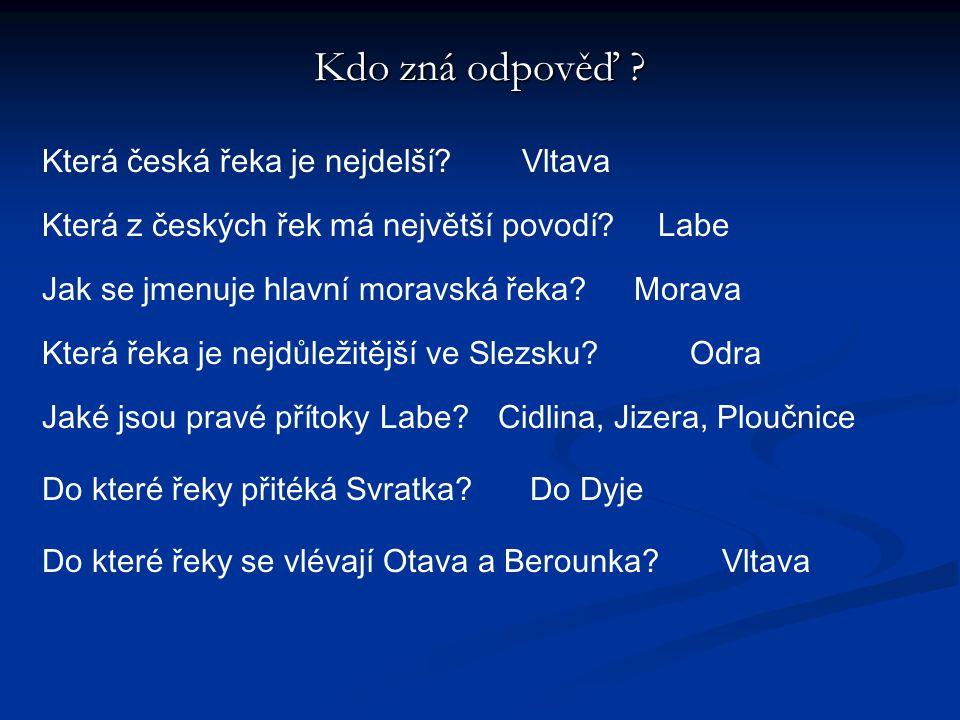 Kdo zná odpověď Která česká řeka je nejdelší Vltava