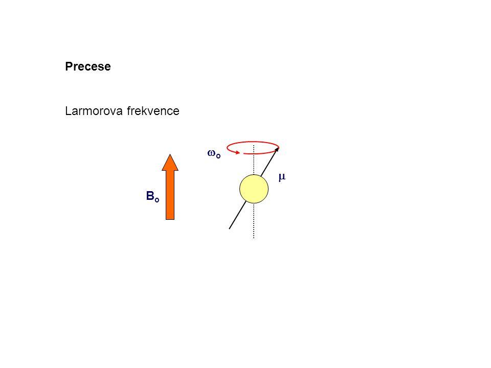 Precese Larmorova frekvence Bo wo m