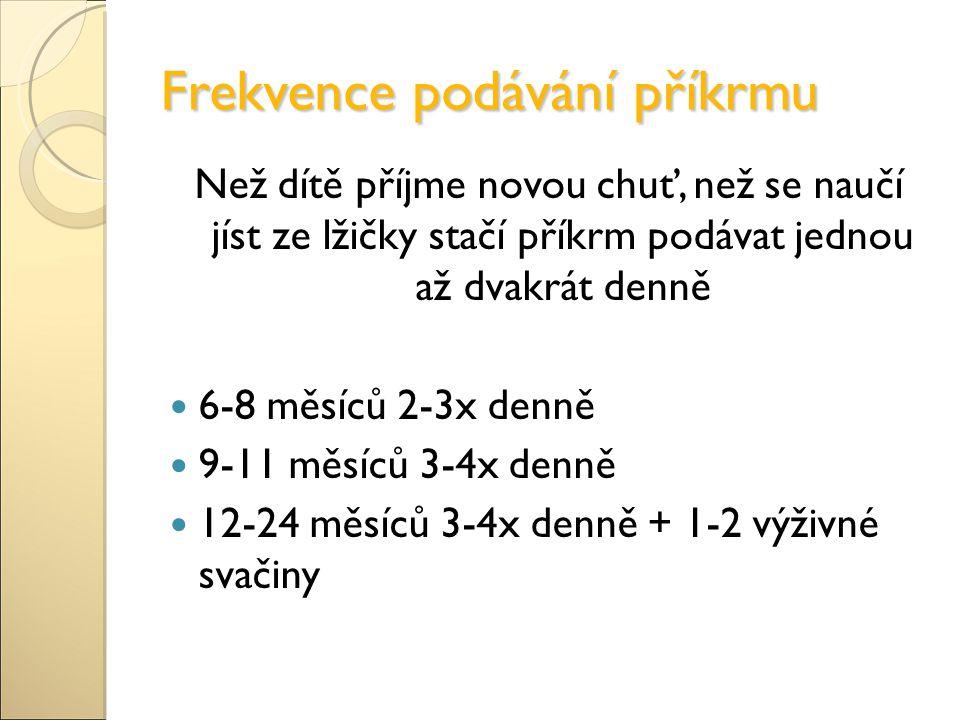 Frekvence podávání příkrmu