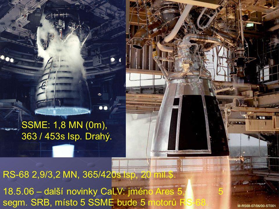 SSME: 1,8 MN (0m), 363 / 453s Isp. Drahý.