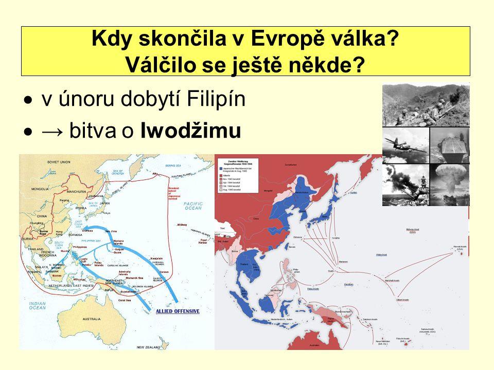 Kdy skončila v Evropě válka