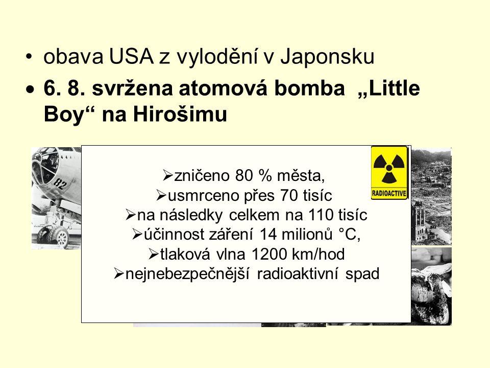 obava USA z vylodění v Japonsku