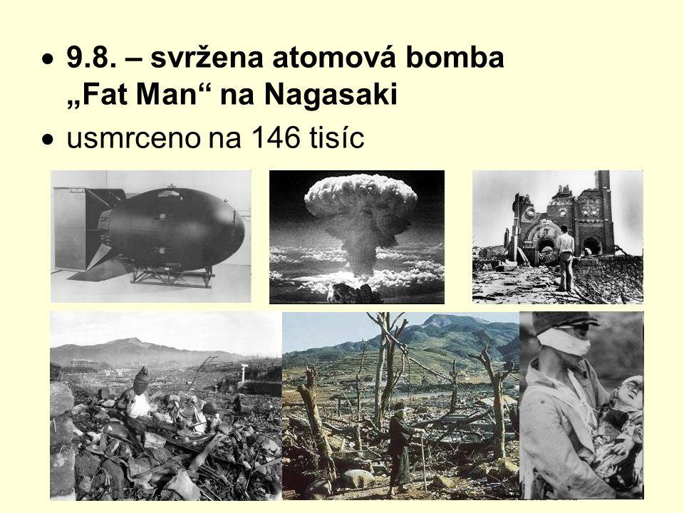 """9.8. – svržena atomová bomba """"Fat Man na Nagasaki"""