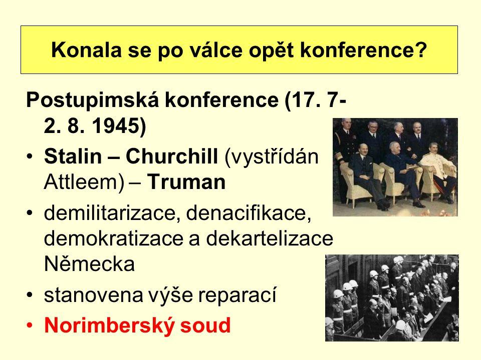 Konala se po válce opět konference