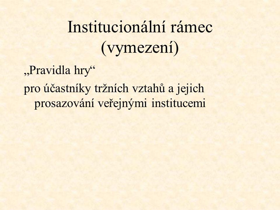 Institucionální rámec (vymezení)