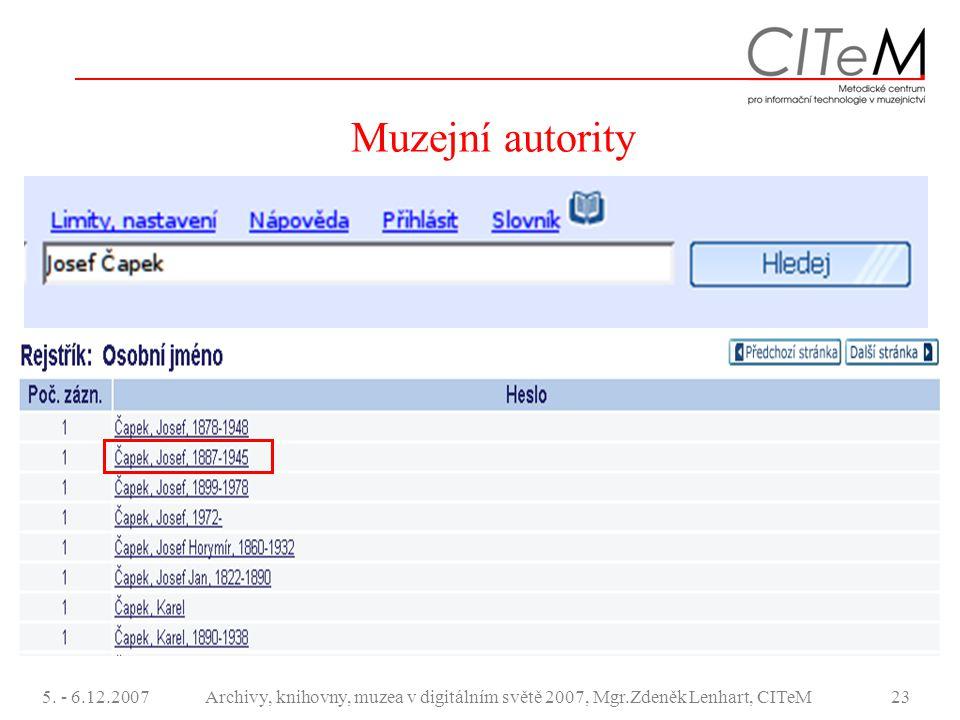 Muzejní autority 5. - 6.12.2007.