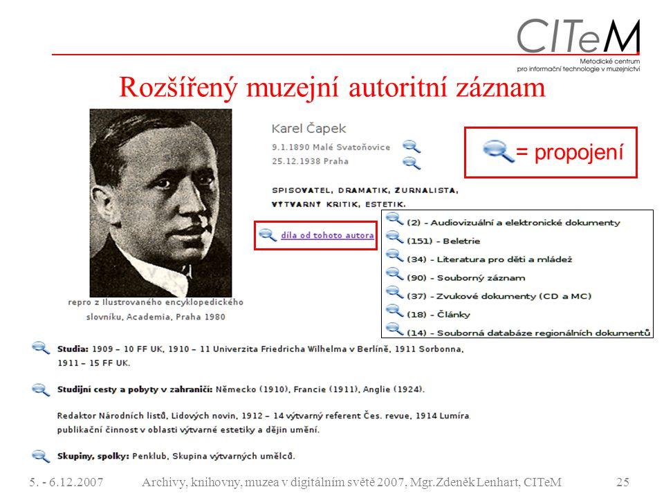 Rozšířený muzejní autoritní záznam