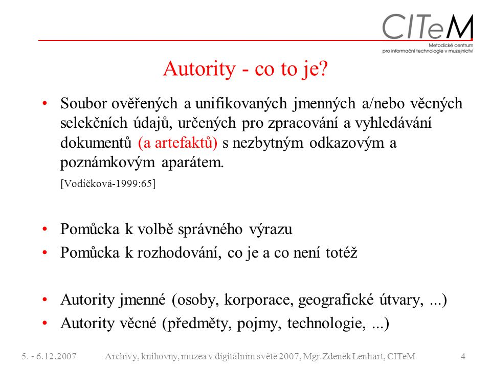 Autority - co to je
