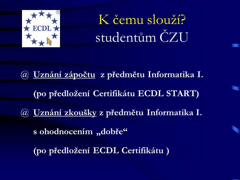 K čemu slouží studentům ČZU