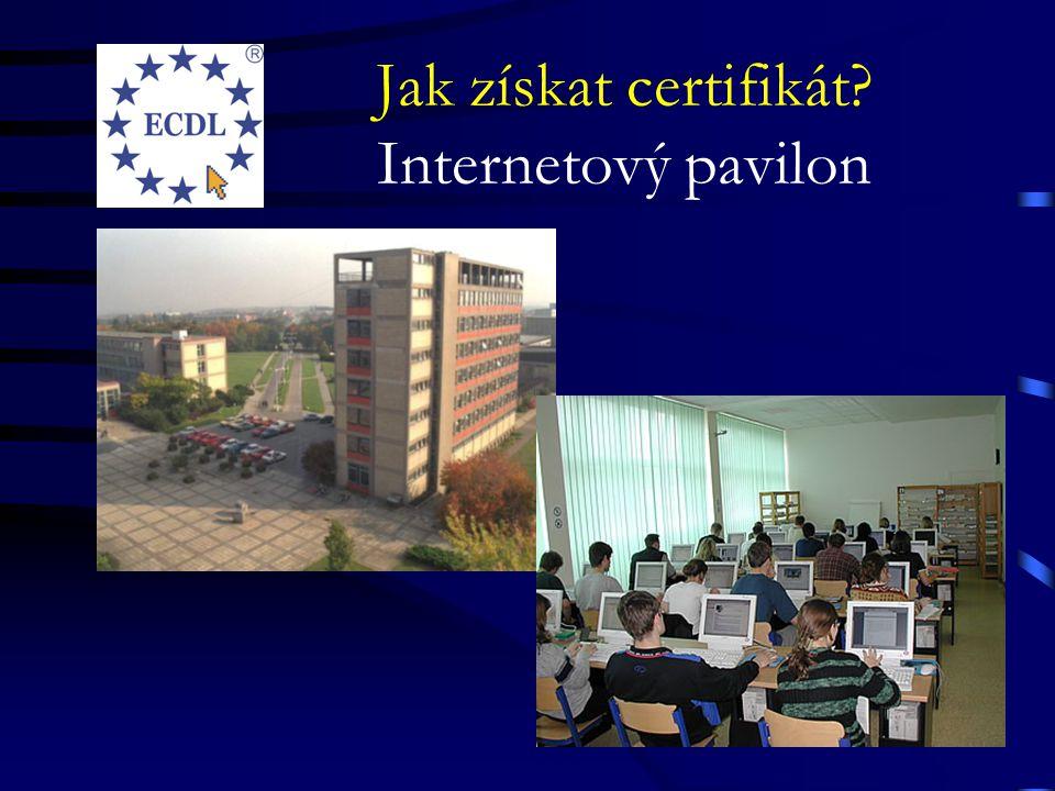 Jak získat certifikát Internetový pavilon