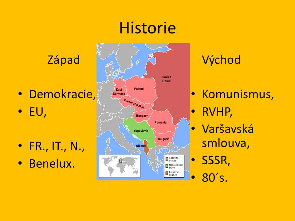 Historie Východ Demokracie, Komunismus, EU, RVHP, Varšavská smlouva,