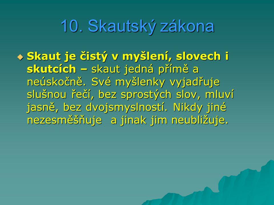 10. Skautský zákona