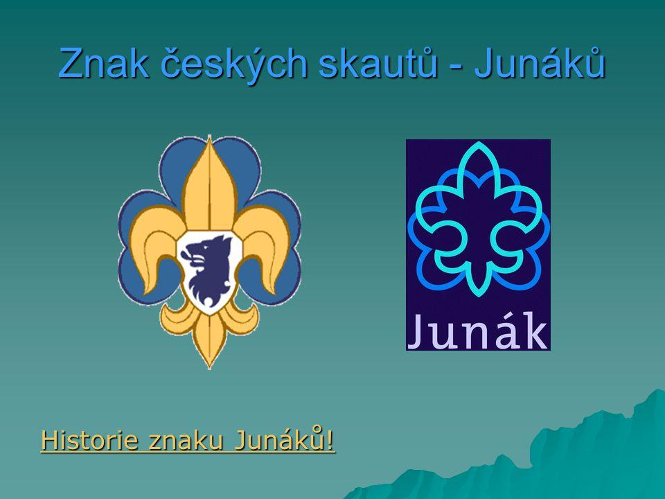 Znak českých skautů - Junáků