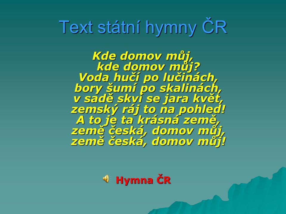 Text státní hymny ČR