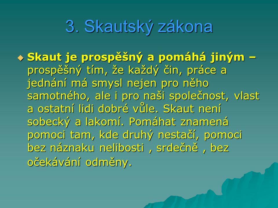 3. Skautský zákona