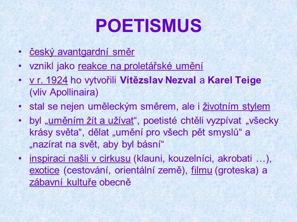 POETISMUS český avantgardní směr