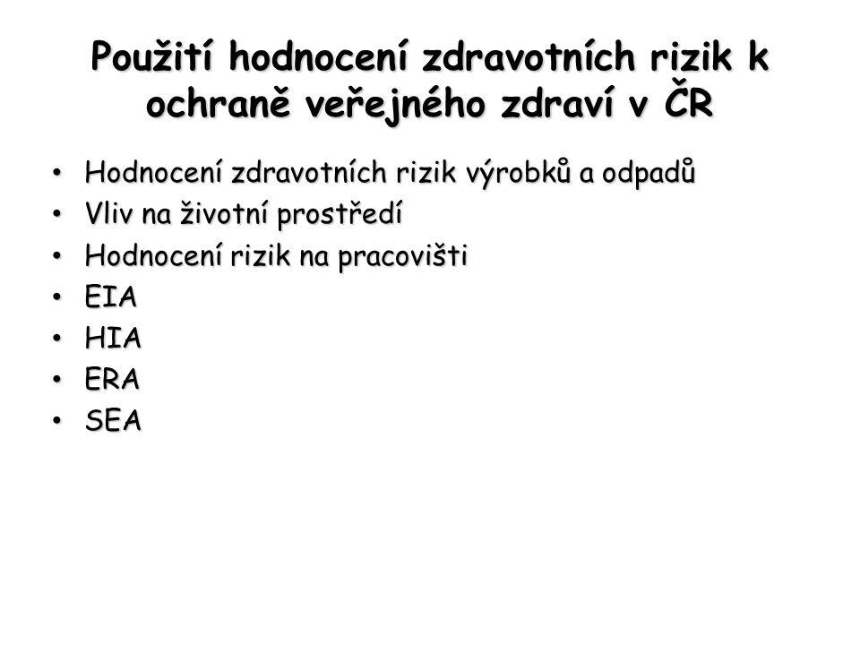 Použití hodnocení zdravotních rizik k ochraně veřejného zdraví v ČR