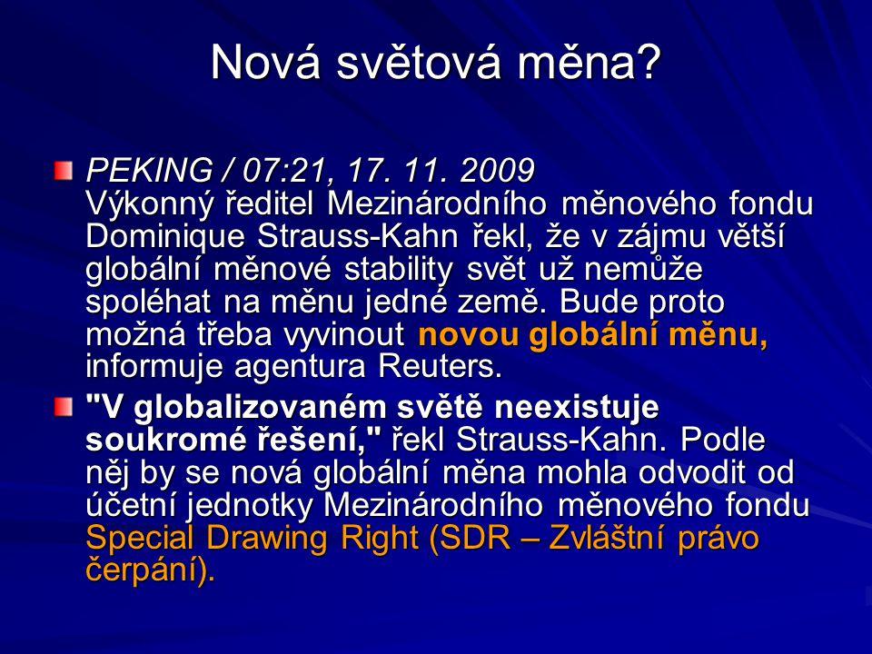 Nová světová měna