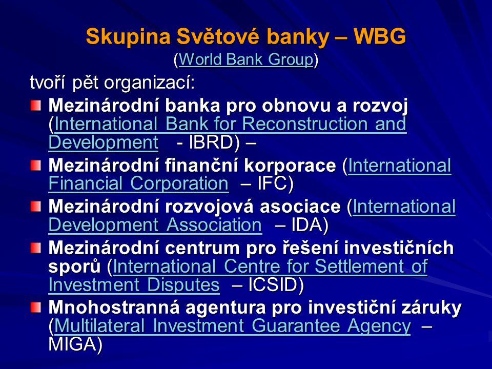 Skupina Světové banky – WBG (World Bank Group)