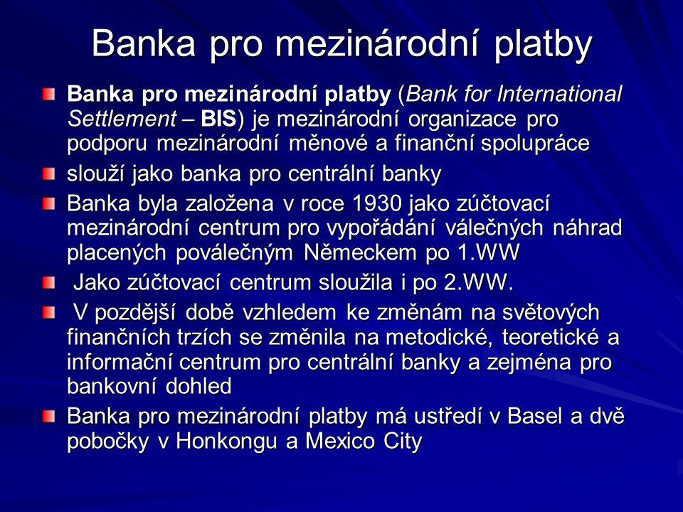 Banka pro mezinárodní platby
