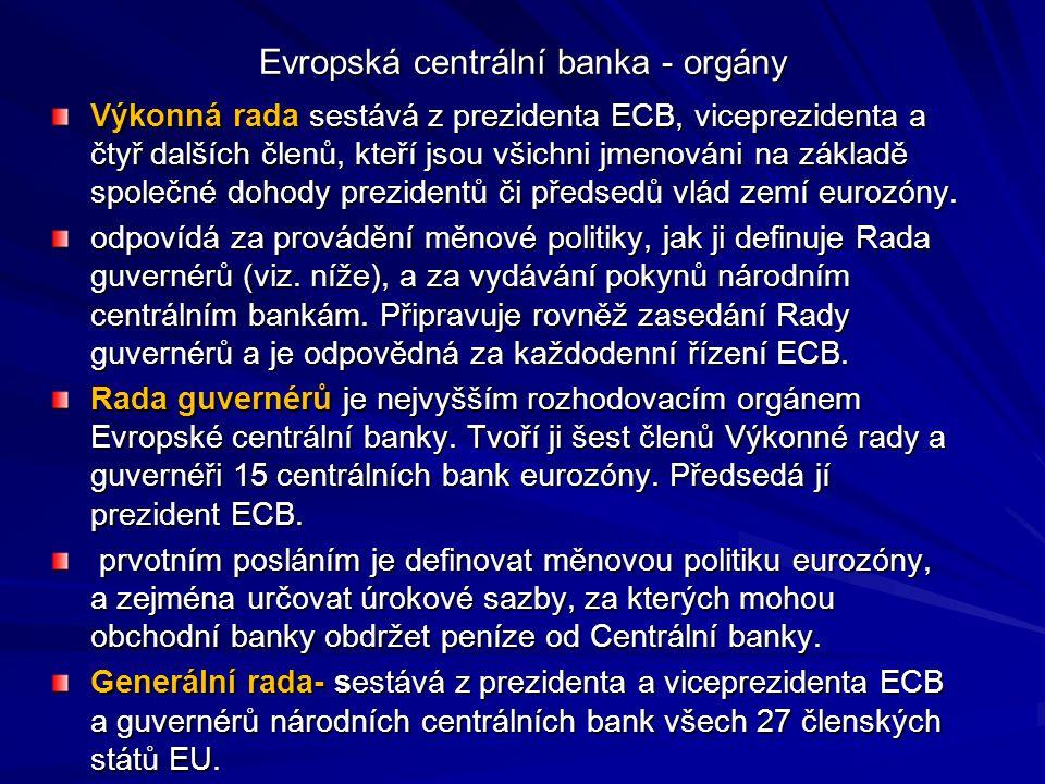 Evropská centrální banka - orgány