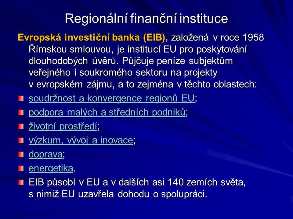 Regionální finanční instituce