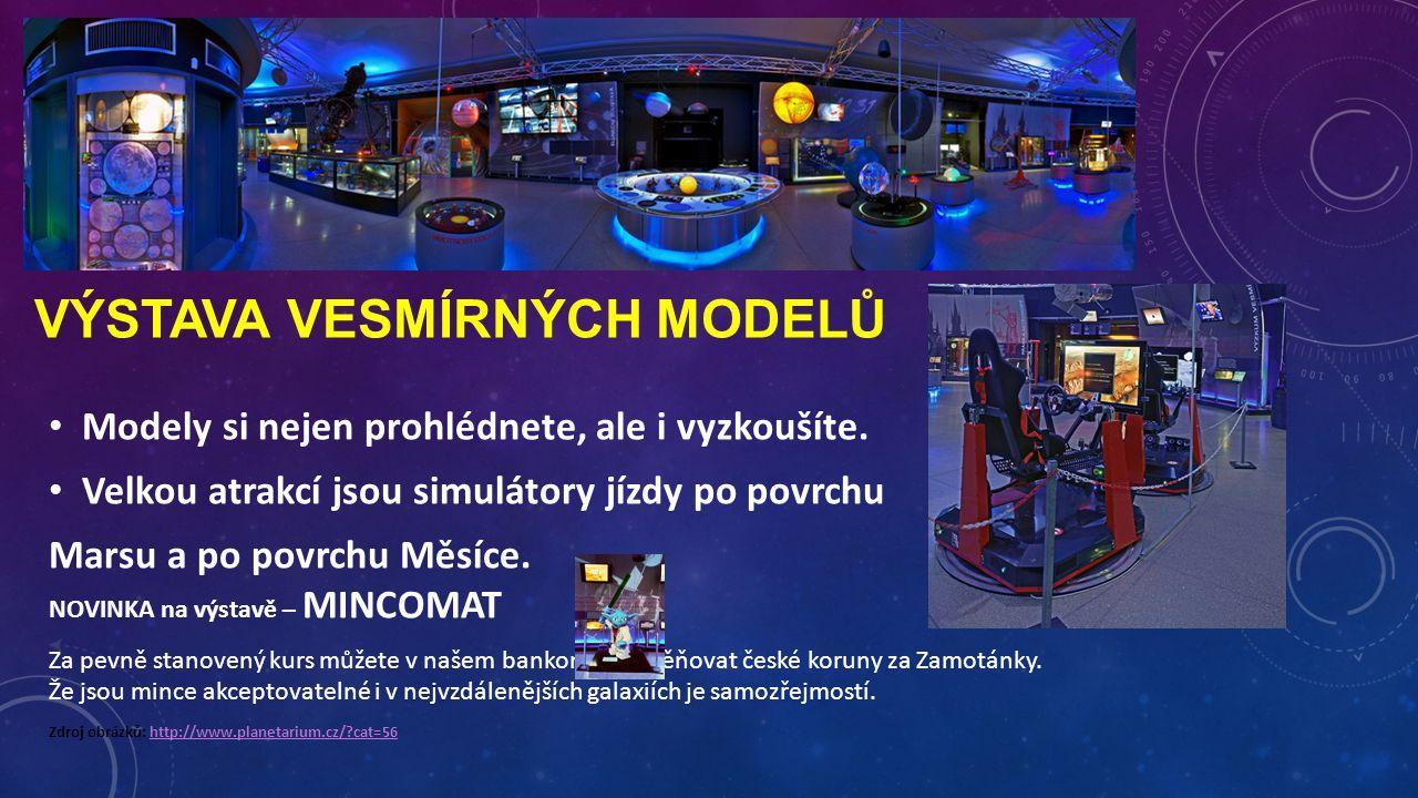 výstava vesmírných modelů