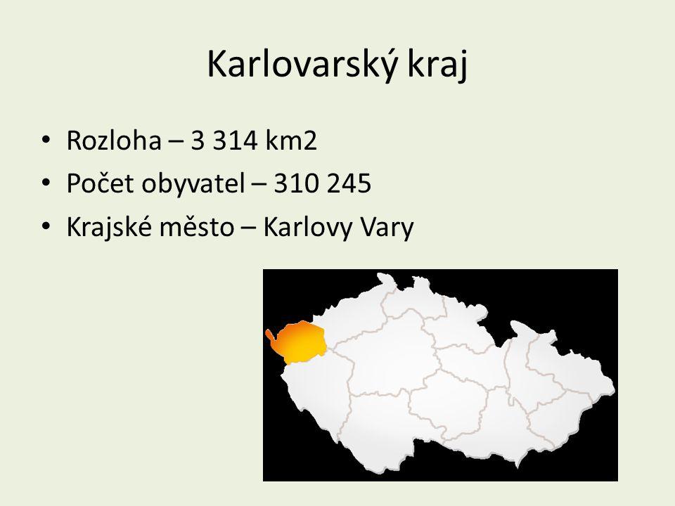Karlovarský kraj Rozloha – 3 314 km2 Počet obyvatel – 310 245