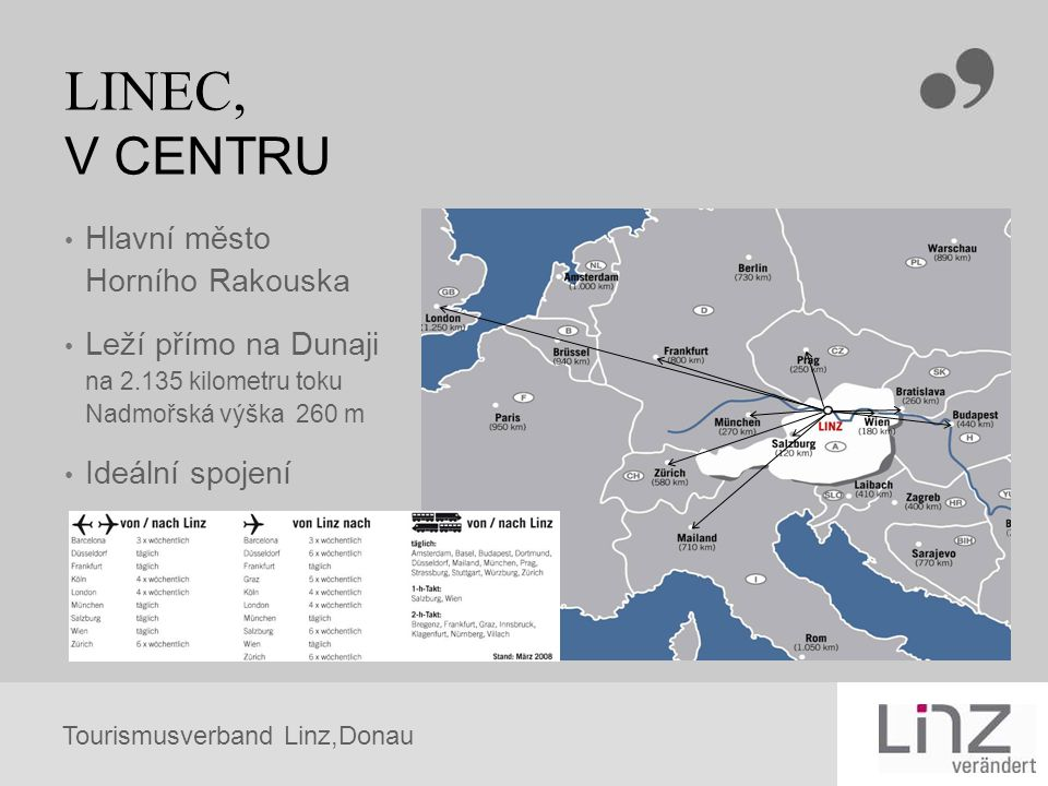 LINEC, V CENTRU Hlavní město Horního Rakouska Leží přímo na Dunaji