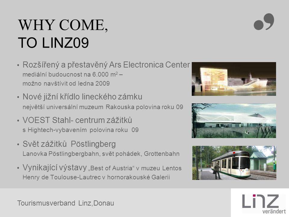 WHY COME, TO LINZ09 Rozšířený a přestavěný Ars Electronica Center mediální budoucnost na 6.000 m2 – možno navštívit od ledna 2009.