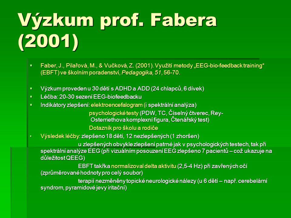 Výzkum prof. Fabera (2001)