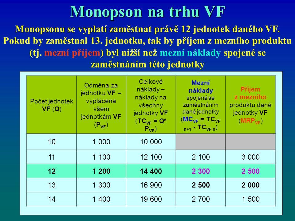 Monopson na trhu VF